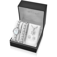 Damen Sekonda Necklace Earring and Bracelet Gift Set Watch 2087G