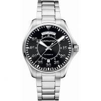 Herren Hamilton Khaki Pilot Tag Datum Automatik Uhr