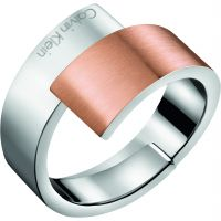 Ladies Calvin Klein Two-tone steel/gold plate Size L.5 Intense Ring KJ2HPR280106