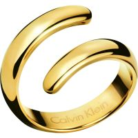 Ladies Calvin Klein PVD Gold plated Size L Embrace Ring