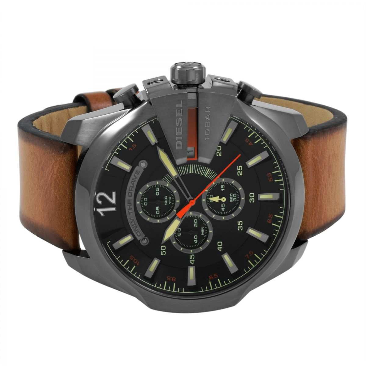 hommes diesel mega chief chronographe montre dz4343. Black Bedroom Furniture Sets. Home Design Ideas