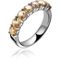 Ladies Zinzi Sterling Silver Ring Size N ZIR1000C/54