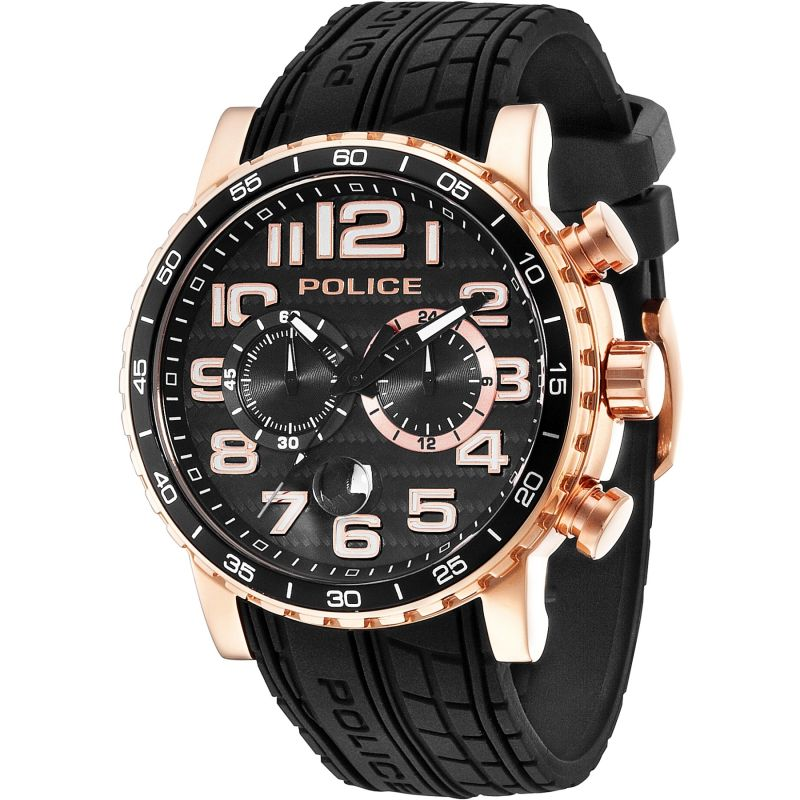 Mens Police Powerslide Chronograph Watch 14443JSR/02P