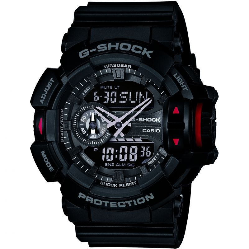 homme Casio G-Shock Alarm Chronograph Watch GA-400-1BER