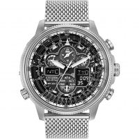 homme Citizen Navihawk A-T Alarm Chronograph Radio Controlled Watch JY8030-83E