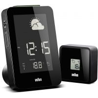 horloge Braun Clocks Weather Station Alarm Clock Radio Controlled BNC013BK-RC