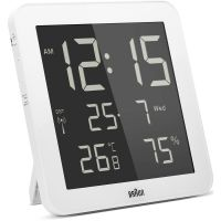Braun Clocks Digital Wall Alarm Clock Radio Controlled