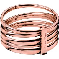 Ladies Calvin Klein PVD rose plating Sumptuous Bangle KJ2GPD10010S