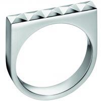 Ladies Calvin Klein Stainless Steel Size O Edge Ring KJ3CMR000107