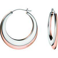 Damen Calvin Klein zweifarbig Stahl/vergoldet Breathe Ohrringe