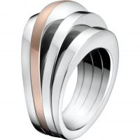 Ladies Calvin Klein Two-tone steel/gold plate Size N Breathe Ring