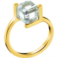 Ladies Calvin Klein PVD Gold plated Size N Daring Ring