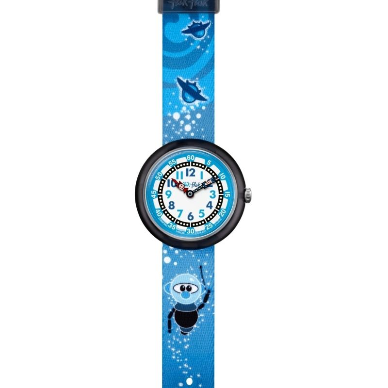 Childrens Flik Flak Cute Size Spaceboy Watch FBNP040