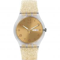 unisexe Swatch New Gent - Golden Sparkle Watch SUOK704