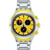 Herren Swatch eisern X-leicht - Zitronengelb Squash Chronograf Uhr