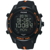 Mens Pulsar Alarm Chronograph Watch