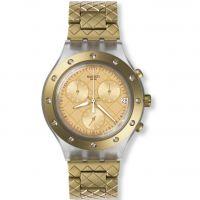 Damen Swatch Waffelraffel Chronograf Uhr