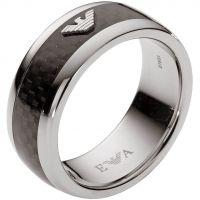 Herren Emporio Armani Edelstahl Größe X.5 Ring