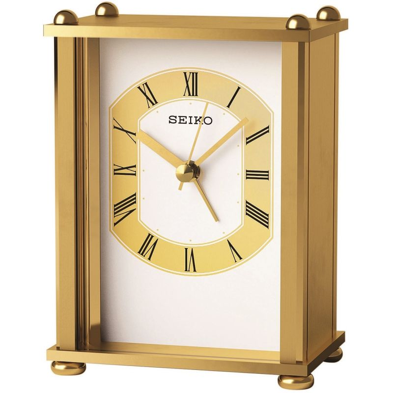 Seiko Clocks Carriage Mantel Clock QHE127G