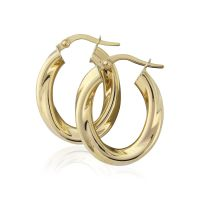 Jewellery Oval Twisted Hoop Earrings Watch ER791