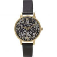 Ladies Olivia Burton Monochrome Ditsy Floral Watch