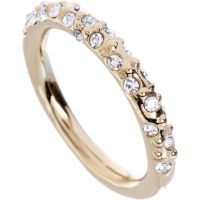 Ladies Karen Millen PVD Gold plated Crystal Sprinkle Ring Small