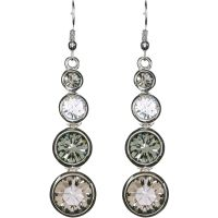 femme Karen Millen Jewellery Swarovski TearEarrings Watch KMJ047-01-23