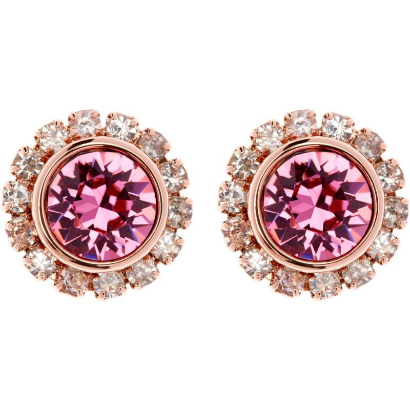 Ladies Ted Baker PVD rose plating Sully Crystal Chain Stud Earring TBJ854-24-04