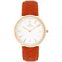 Birline Weybridge Rose Gold Unisex horloge Rood BIR001107