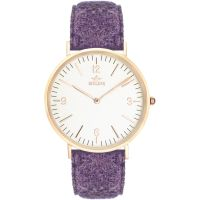 Birline Woodley Rose Gold Unisex horloge Paars BIR001111