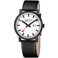 Herren Mondaine Schweizer Railways Evo Big Datum Uhr