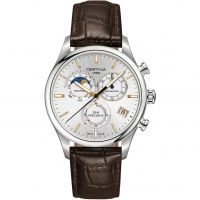 homme Certina DS-8 Precidrive Moonphase Chronograph Watch C0334501603100