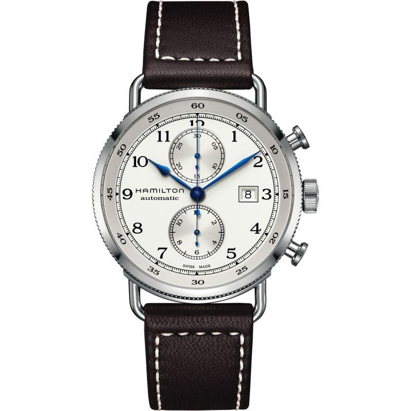 Herren Hamilton Khaki Navy Pioneer Chronograph Watch H77706553