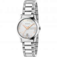 Gucci G-Timeless 27mm Dameshorloge Zilver YA126523