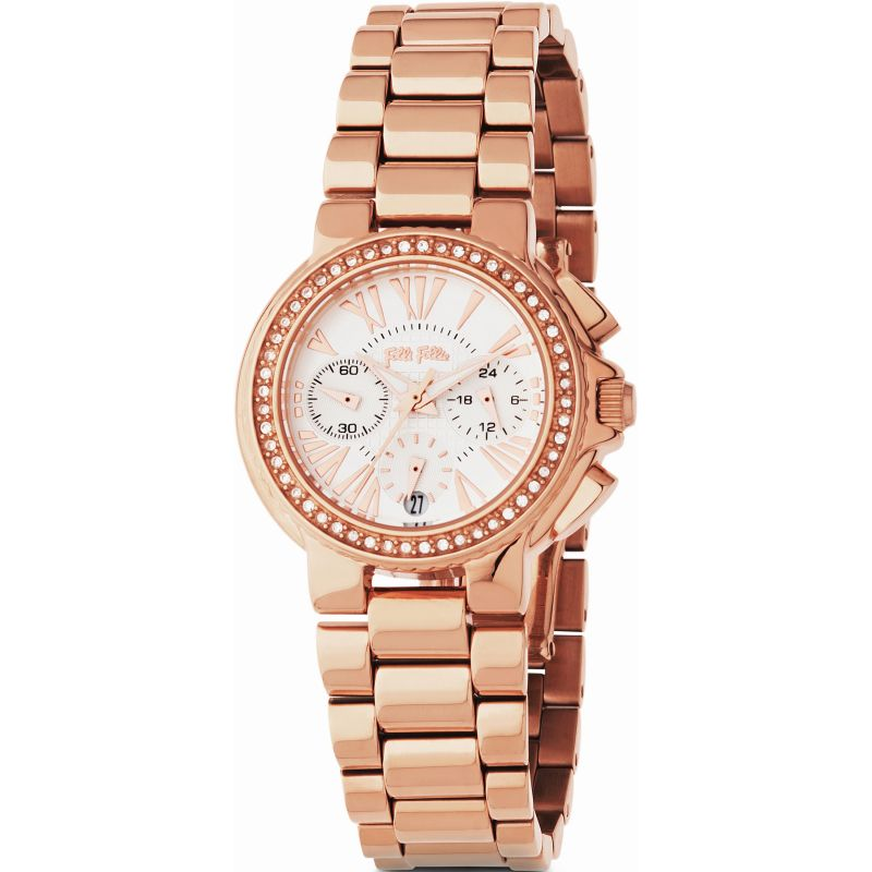 Ladies Folli Follie Watchalicious Chronograph Watch 6010.1042