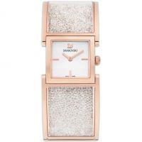 Damen Swarovski Crystalline Armreif Uhr