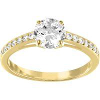 Damen Swarovski PVD Gold überzogen Größe L.5 Attract Ring 52