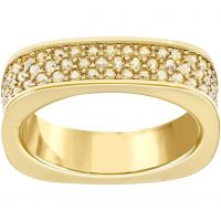 Damen Swarovski PVD Gold überzogen Größe L.5 Vio Ring 52