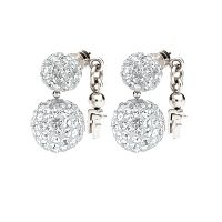 Ladies Folli Follie Sterling Silver Bling Chic Earring