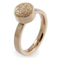 Ladies Folli Follie PVD rose plating Size P Bling Chic Ring 5045.3112