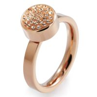Ladies Folli Follie PVD rose plating Size L.5 Bling Chic Ring 5045.3110