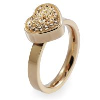 Ladies Folli Follie PVD rose plating Size L.5 Bling Chic Ring 5045.3107