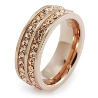 Ladies Folli Follie PVD rose plating Size N.5 Classy Ring 5045.4496