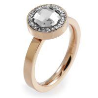 Damen Folli Follie PVD Rosa plating Größe L.5 klassisch Ring