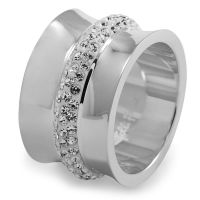 Ladies Folli Follie Stainless Steel Size L.5 Dazzling Ring