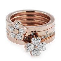 Ladies Folli Follie PVD rose plating Size N.5 Winter Wonder Ring 5045.4754