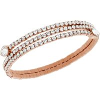 Swarovski Dames Twisty Bracelet PVD verguld Rose 5073594