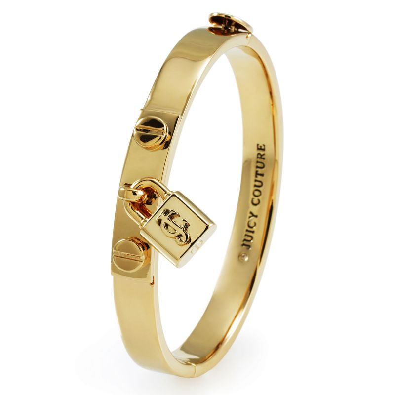 Ladies Juicy Couture PVD Gold plated Jc Padlock Bangle WJW392-710