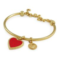 Gioielli da Donna Juicy Couture Jewellery Enamel Heart Slider Bangle WJW383