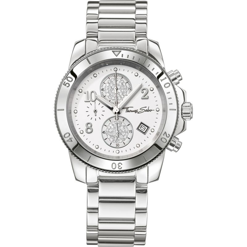 Ladies Thomas Sabo Glam Chronograph Watch WA0190-201-202-40MM